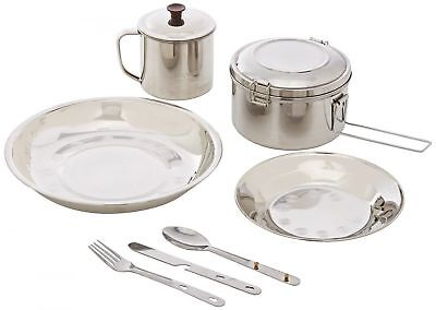 Camping Set Cutlery Stainless Steel Hiking Fishing Picnic Cooking Traveller Kit