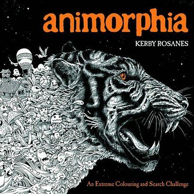 Animorphia An Extreme Colouring Search Challenge Book | Rosanes, Kerby Paperback