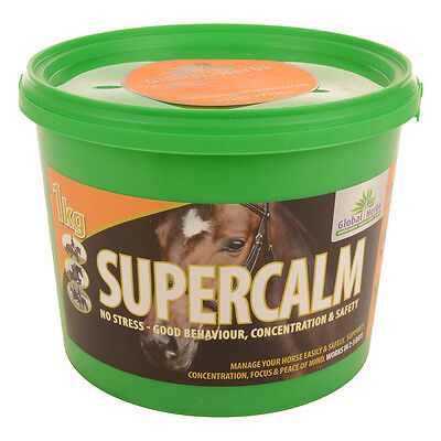 GLOBAL HERBS SUPERCALM 1KG - Horse Supplement Free P & P Super Calm Calmer