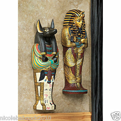 Ancient Egyptian Wall Sculptures Honoring Canine Jackal & Famous King Tuy