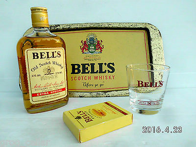 Bell's Whisky Vintage Numbered Bottle Plus Tray, Glass,Cards Full/Sealed  RARE!!