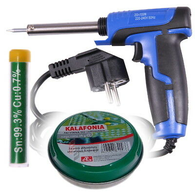 Kit 25W-130W Switchable Soldering Iron Gun (European Plug) + Tin + Colophony