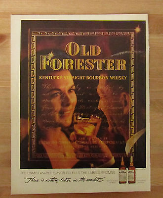 Vintage 1961 Magazine Print Ad OLD FORESTER Kentucky Straight Bourbon Whiskey