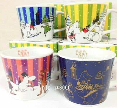 Moomin Mug Tea Cup Limited Edition Sold at ONLY KFC Japan Set of 4 VERY RARE !!!