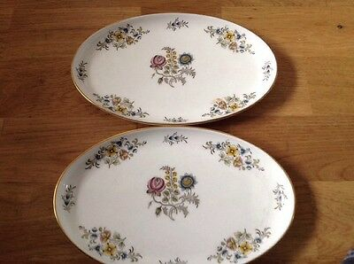 2 Oval Minton Dishes Pattern. O. A. 2189