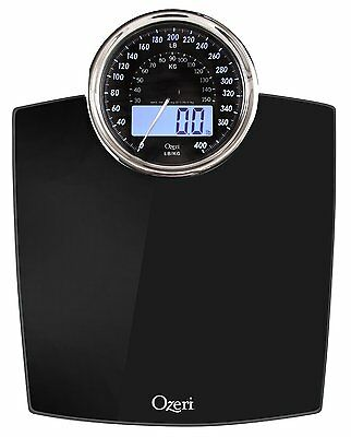 Digital Bathroom Scale with Electro Magnetic Weight Dial Black