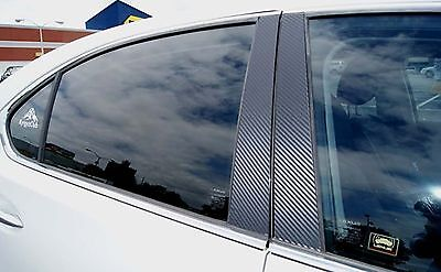 Fits Mazda 6 04-08 Carbon Fiber B-Pillar Window Trim Covers Post Parts