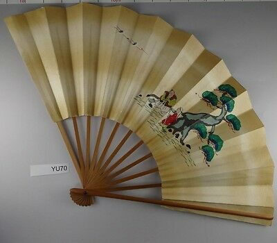YU70 SENSU TAKASAGO Japanese Fan painting Nihonga Geijyutu Traditional crafts