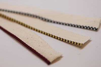 Bookbinding Headbands / Endbands - Your choice of colors / yardage tailbands