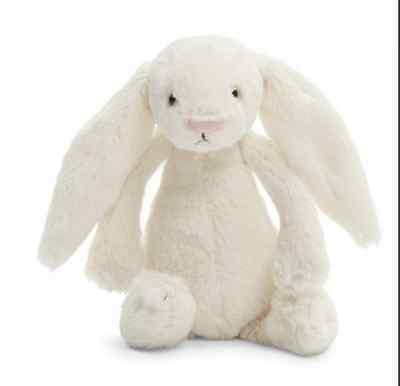 NWT! Jellycat Bashful Bunny Cream Soft Toys for Kids/Easter Gifts, Medium-14''