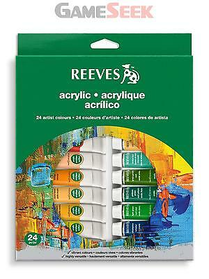 Reeves 24 Acrylic Tube Set - Arts And Crafts Acrylic Painting Brand New
