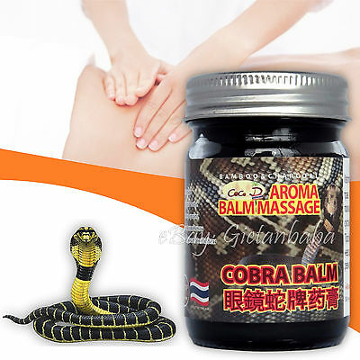 50g Original Thai Massage Cobra Balm, Arthritis and Arthrosis Pain Relief