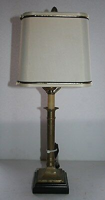 Antique contemporary Frederick Cooper Chicago table lamp square base shade