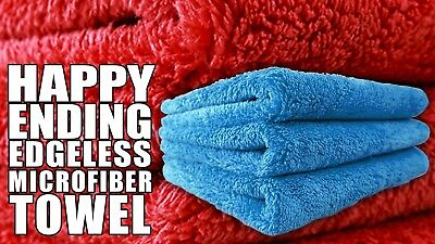 6x Chemical Guys Happy Ending Edgeless Tagless Microfiber Towel 16X16