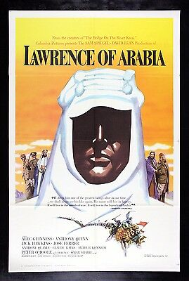 LAWRENCE OF ARABIA * CineMasterpieces ORIGINAL ROADSHOW MOVIE POSTER C9-C10 1962