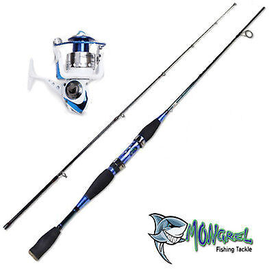 New Rod & Reel Combo General Purpose Rod And Reel Shore Boat Jetty Blue