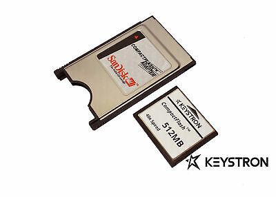 128MB Compact Flash Compactflash +PC card PCMCIA Adapter JANOME 128 MB Sandisk