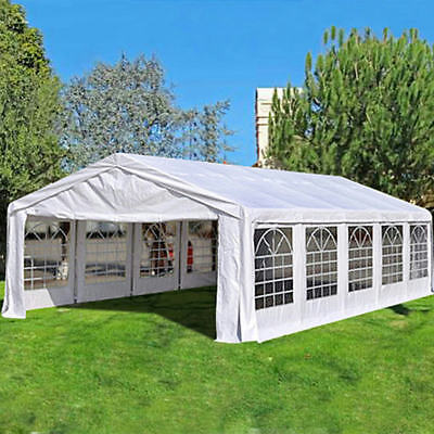 Waterproof 33'x16'Heavy Duty Wedding Party Tent Canopy Marquee + Ground Bar