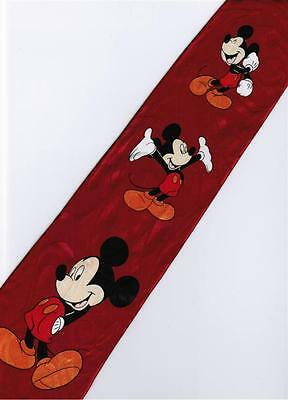 Mickey Mouse Disney 3 Pose Handsome RED Cartoon Novelty Fancy Neck Tie