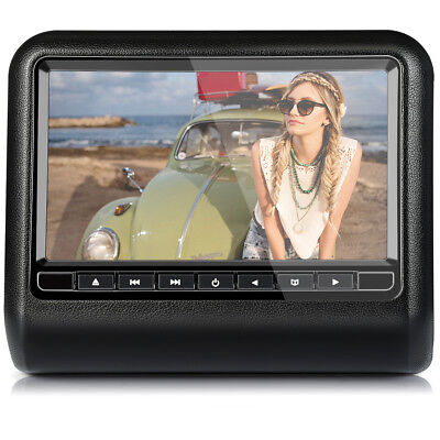 9'' Digital TFT-LCD Screen Auto Headrest Appuie-tête DVD CD Lecteur USB+SD IR+FM