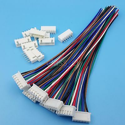 10Sets XH2.54 6Pin 1007 24AWG Single End 15cm Wire To Board Connector