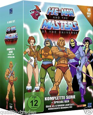 ❏ He-Man & Masters of the Universe Complete 130 Episode Series 14 DVD Box Set ❏