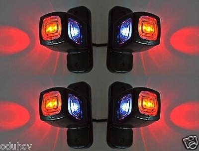 4x Side Marker LED  12V 24V Lights Chassis Bus Trailer Truck for SCANIA DAF MAN