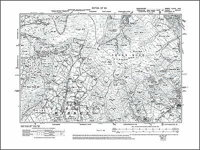 Old map of Water Grove, Lancashire 1911: 81NW repro