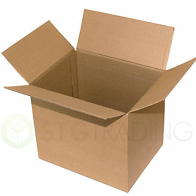 "Large Double Wall Cardboard Boxes 16""x16""x16"" Storage Packing Boxes"