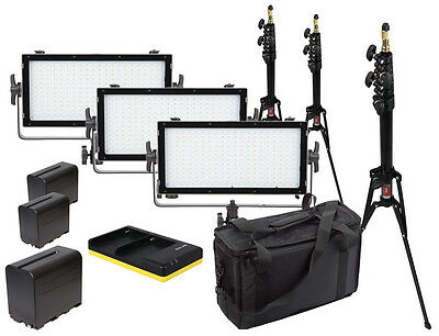 VIBESTA Capra 20B Bi-Color 3er Travel Set LED Panel Light + Lichtstativ + NP-F