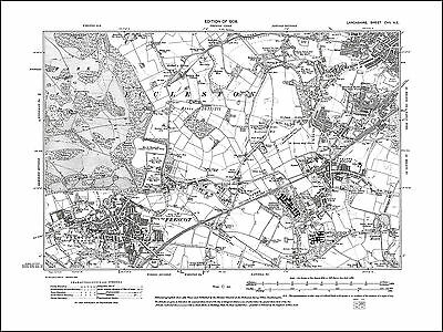 Old map of Prescot, St Helens (SW), Lancs 1909: 107NE repro