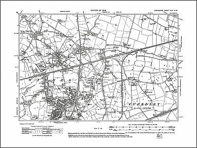 Old map of Widnes (N), Farnworth, Lancs 1908: 115NW repro