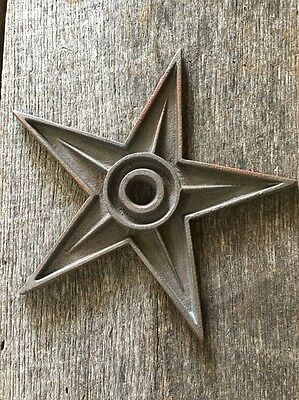 2 Cast Iron Stars Masonary Architectural Stress Washer Texas Lone Star Rustic 6""