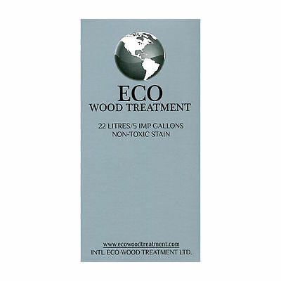 ECO WOOD TREATMENT 22 litres 5 imp gallons non-toxic stain finish lifetime NIB