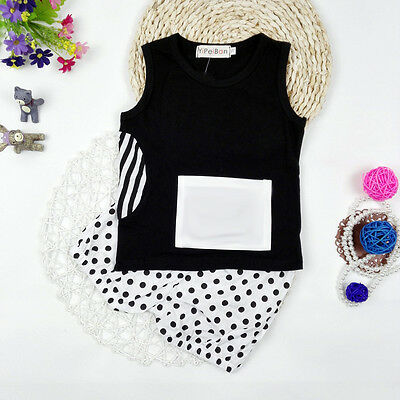 Baby Boys Girl Infant Newborn 2Pcs Short Sleeved T-shirt Tops+Pants Outfit Sets