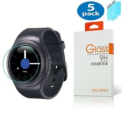5x Nacodex For Samsung Gear S2 / R732 R720 HD Tempered Glass Screen Protector