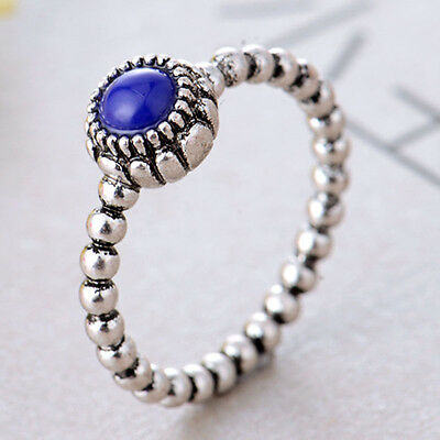 Women Fashion Round Cut Sapphire 925 Sterling Silver Ring Wedding Jewelry New