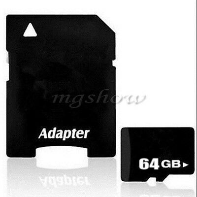 64GB Micro SD SDHC TF Memory Card & Class 10 45MB/s SD Adapter For Smart Phones