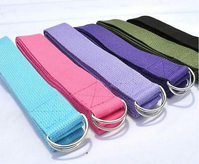 Cotton Yoga Strap Yoga Equipment Stretching Belt Figure Gym Pose Exercise Belt T
