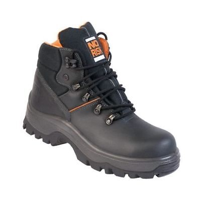 No Risk Armstrong Mens Safety Boot Steel Toe Cap & Midsole Wide Fit Work Shoes