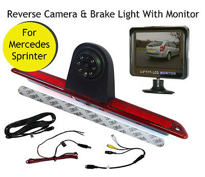 Mercedes Sprinter Van Reversing Reverse Camera Brake Light and Monitor 07 - 19