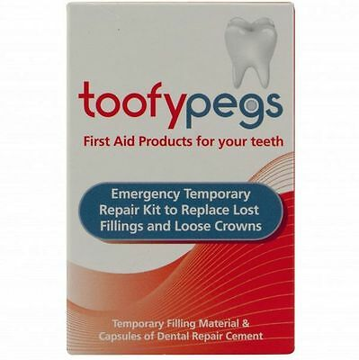 Toofypegs Emergency Crown and Filling Replacement Kit - First Aid for Teeth