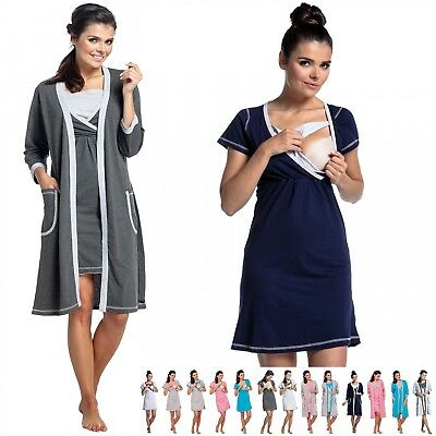 Zeta Ville - Women's Maternity Nursing Nightdress / Robe - MIX & MATCH - 772c
