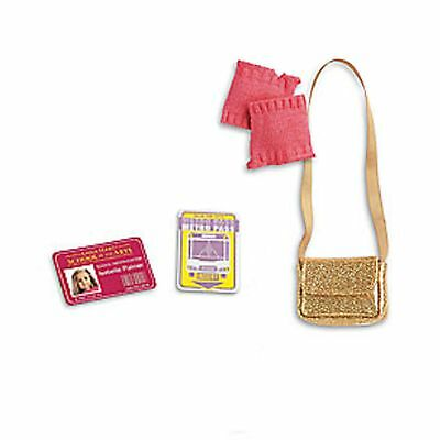 American Girl LE ISABELLE SET ACCESSORIES 4 PC PURSE ARMWARMERS ID & METRO NEW