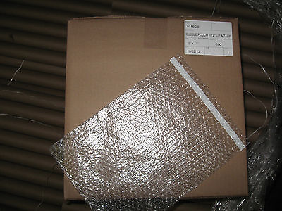 "100 - 9"" x 11"" Clear Self-Seal Bubble Pouches"