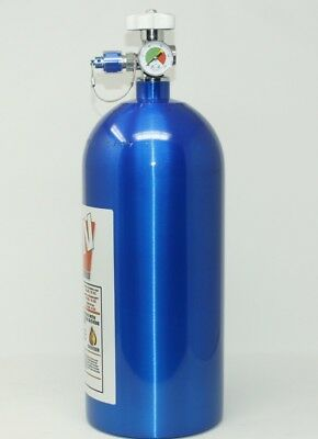 10LB Nitrous Bottle W/high flow valve & gauge NEW