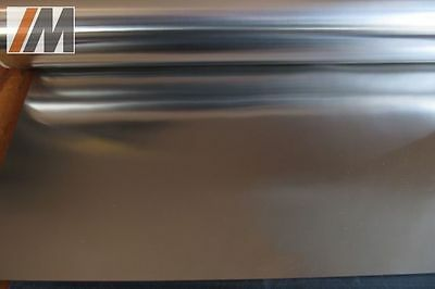Stainless Steel Sheet Foil Precision Metal 250x600x0,1mm, Material: 1.4310