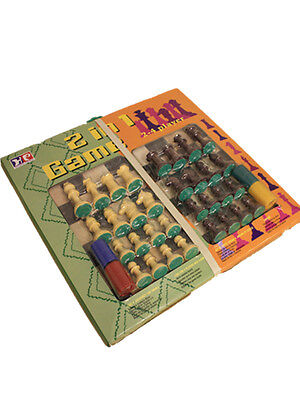 Large Wooden Board Game Chess Draugh Set 2 in 1 Gift Present