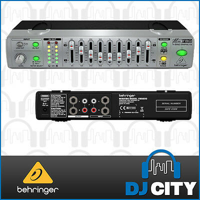 Behringer Mini FBQ800 Ultra Compact 9 Band Graphic Equalizer EQ