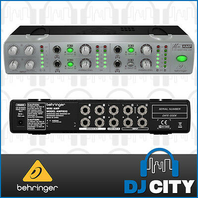 Behringer MiniAmp AMP800 Ultra-Compact 4-Channel Stereo Headphone Amplifier